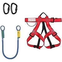 COUYY Kit de arnés de Escalada con la Cuerda y mosquetones del cinturón de Seguridad del Consejo de Medio Rescate para el Alpinismo Escalada Escalada Rappel Árbol