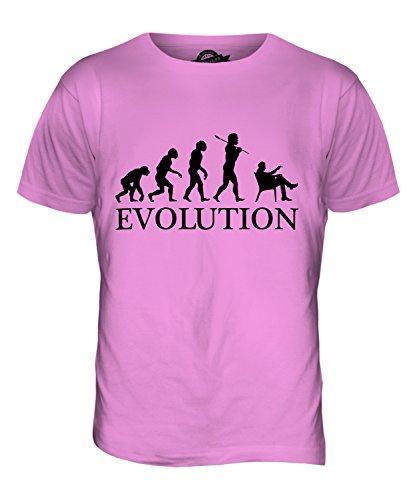 CandyMix Zigarre Evolution Des Menschen Herren T Shirt Rosa