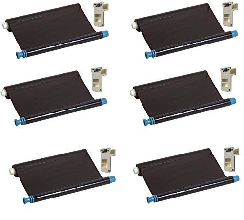 Preisvergleich Produktbild 6x kompatibler Ink-Film Faxfilm ersetzt Philips PFA351 mit Chip