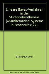 Lineare Bayes-Verfahren in der Stichprobentheorie. (=Mathematical Systems in ...