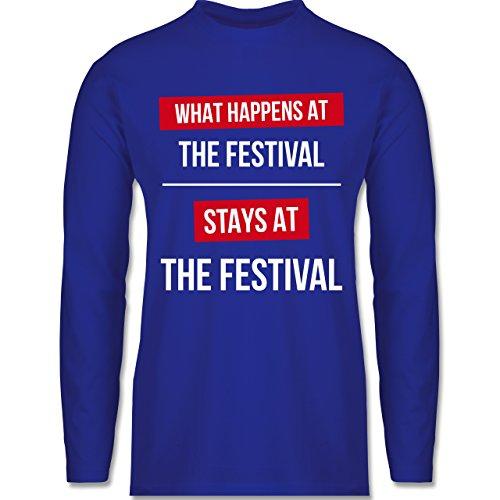 Shirtracer Festival - What Happens On The Festival Stays At The Festival - Herren Langarmshirt Royalblau