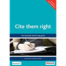 Cite them right: the essential referencing guide