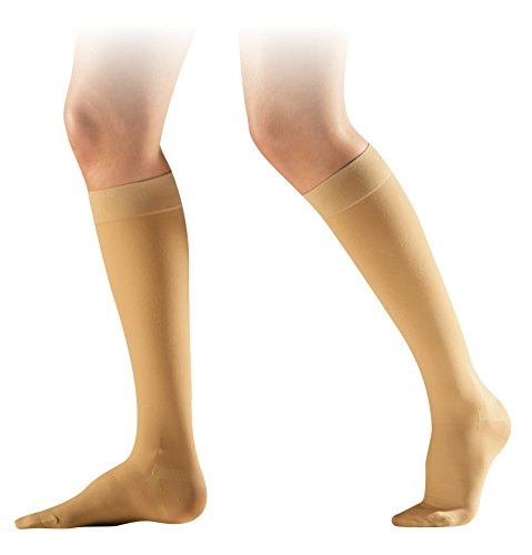 ce1997e0c1 SIGVARIS COTTON CLASS 2 REGULAR CLOSED TOE COMPRESSION CALF STOCKINGS -  NATURE