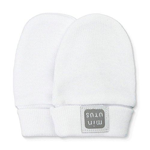 Manoplas antiarañazos 100% algodón para bebé - Colección Plain - Minutus (Blanco)
