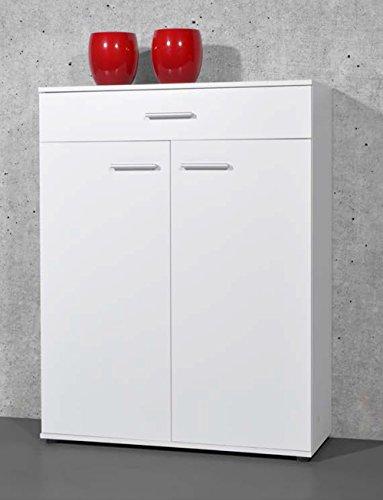 Armoire-meuble--chaussures-blanc-avec-2-portes-et-1-tiroir-L-89-x-H-120-x-P-37-cm-PEGANE