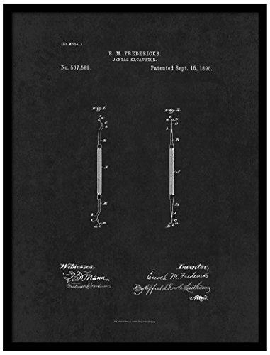spotcolorart 1896Zahnarzt Dental Bagger, schwarz, 55,9x 73,7cm - Dental-bagger