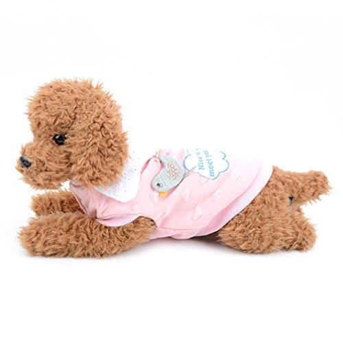 ranphy Kleiner Hund Katze niedlichen Fleece gefüttert T-Shirts Vogel Puppy Print Sweatshirt Baumwolle Bekleidung für kalte Wetter Fleece Mantel Hund Winter (Gefütterte Kostüme Mesh)