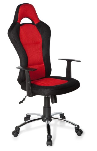 HJH OFFICE RACER 500 634610 - SILLA GAMING O DE OFICINA  COLOR NEGRO Y ROJO