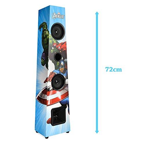 Marvel Avengers Bluetooth 2.1 Tower Speaker Wireless Stereo Sound System 72cm