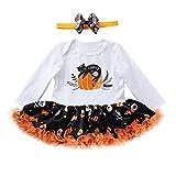 Baby Jungen Mädchen Neugeborenen Langarm Kürbis Drucken Strampler Overall Kleidung Tutu Kleid Halloween Karneval Party Kleid von Innerternet