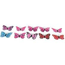 MagiDeal 10 Piezas Conjunto de Decoración de Casa 2 Capas de Simulación Mariposas para Paños