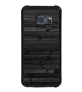 PrintVisa Designer Back Case Cover for Samsung Galaxy S6 Edge+ :: Samsung Galaxy S6 Edge Plus :: Samsung Galaxy S6 Edge+ G928G :: Samsung Galaxy S6 Edge+ G928F G928T G928A G928I (Black Wood Pattern )