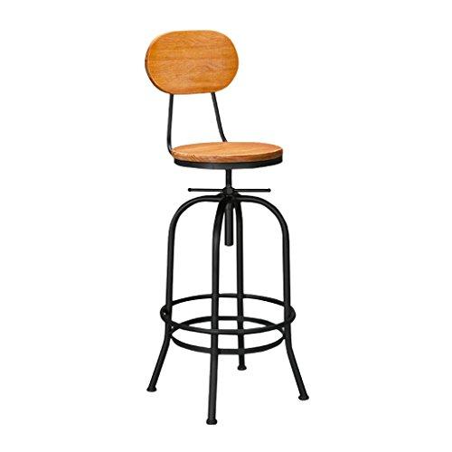 QFF Tabouret de Bar Vintage, LOFT Iron Art Fauteuil Bar Chaise En Bois Solide Tabouret Haut Ascenseur Tabouret Tabouret En Métal 40 * 40 * 90 CM Cool (taille : 40 * 40 * 90CM)