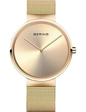 Bering Armbanduhr vergoldet mit Saphirglas 14539-333