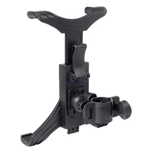 bescita Fahrradhalter für Tablet PC, verstellbare Tablet PC Fahrradhalterung Zylindrische feste Halterung flache Halterung, schwarz -