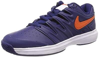 Nike Herren Air Zoom Prestige Hc Lthr Tennisschuhe Mehrfarbig (Blue Void/Orange Blaze/White 400) 39 EU