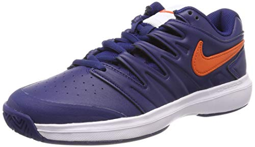 Nike Air Zoom Prestige HC Lthr, Scarpe da Tennis Uomo, Multicolore (Blue Void/Orange Blaze/White 400), 41 EU