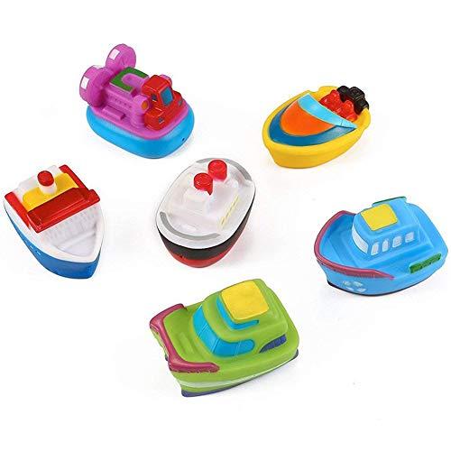 Yojoloin Pool Schwimmende Boat Schiff Badewanne Badespielzeug, Float PU Gummi Bad Wasser Squirters Für Kinder (6 STÜCKE)