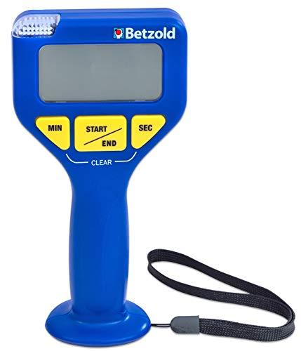 Betzold 755698 - Stoppuhr Hand-Timer, Sport Schule Zeit messen Countdown-Funktion (Fußball-countdown-uhr)
