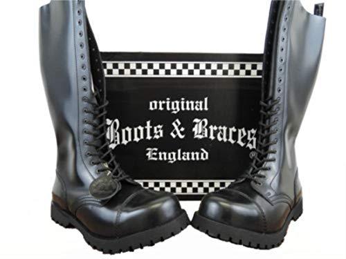 Boots & Braces - 20 Loch Stiefel Rangers Schwarz Größe 43 (UK9)