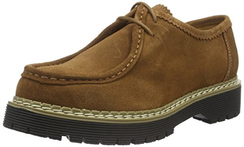 Bronx Rent, Scarpe con Lacci Donna Marrone (Mid Brown 21)