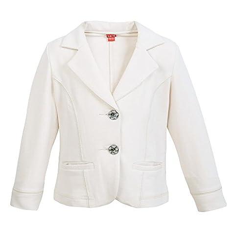 La-V Mädchen Jacke, Blazer mit Taschen beige/Größe 140/146
