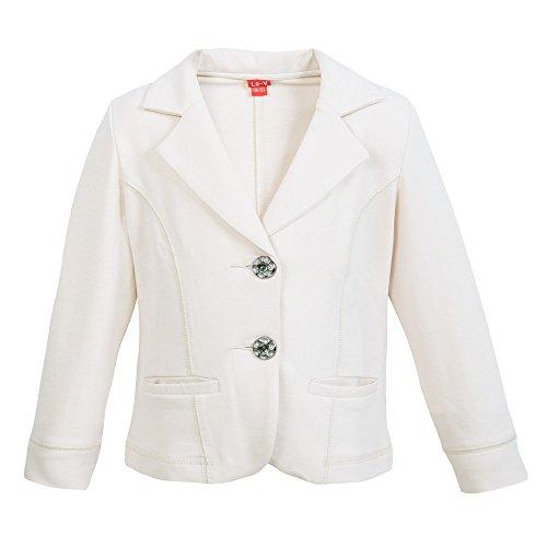 La-V Mädchen Jacke, Blazer mit Taschen beige/Größe 152/158