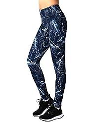 Neonysweets Legging Femme Performance Collant Yoga Exercice Etraînement Pantalon Sport Taille Normale