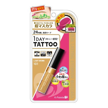 K-Palette 1 Day Tattoo Lasting Eyeblow Mascara 24h 101 Light Brown