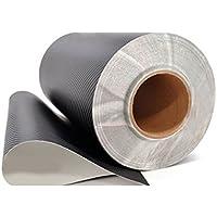 Adesivo in vinile con effetto 3D in fibra di carbonio con sistema di scarico dell'aria,  dimensioni della pellicola: 50,8 x 127 cm, colore: nero - Fogli Tetto