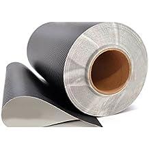 3D de fibra de carbono, película de vinilo negro, 1,5 m x 30,5 cm