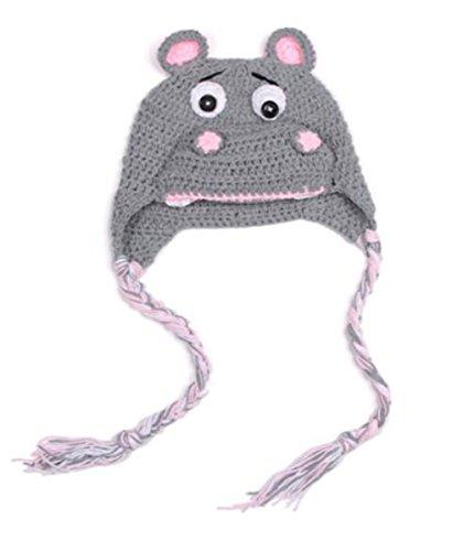 AOGD Winter Wolle Gestrickte Hüte Baby Mädchen Schals Kapuze Mönchskutte Beanie...