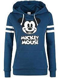 Micky & Minnie Stripes Sudadera con Capucha Azul