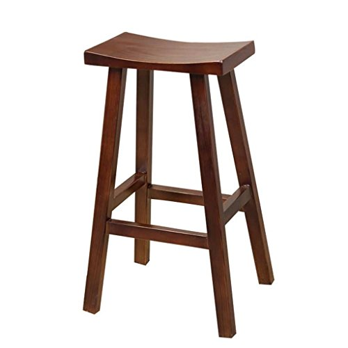 Bar Stools Nordic Style Modern Design Solid Wood Bar Stool Solid Wooden Leg Pp Seat Home Dining Coffee Bar Counter Stool Backless 68cm Reliable Performance