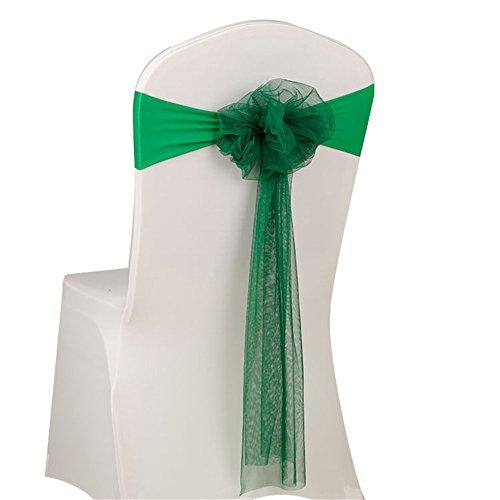 Arco de vuelta Silla de Lazo de Organza de boda banquete Decoración Sillas