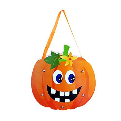 Crafts Halloween Kid Cute (feiliandajj DIY Halloween Kinder süße CANDY Tasche Kids Treat Bag Party Aufbewahrung Verpackung Geschenk Handtasche für Bakery/Plätzchen/Süßigkeiten/Dessert, Kinder Herren damen,)