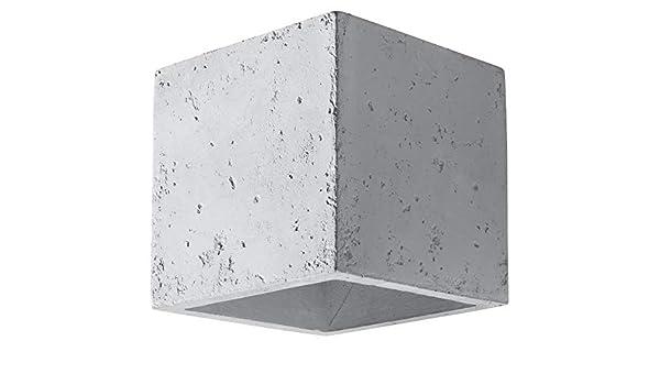 Sollux QUAD BETON, SL.0487 Lampada da parete moderna a LED grigia per soggiorno, camera da letto, bagno, corridoio, ufficio, attacco G9