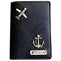 I Love Fashion Personalised Faux Leather Black Passport Cover