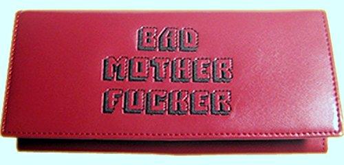 Pulp Fiction Damen Geldbeutel Bad Mother Fucker Ledergeldbeutel braun/schwarzer Prägedruck Geldbörse Women's Wallet