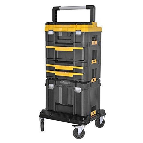 Kit Trolley con surtido para electricistas en TSTAK + Taladro atornillador dcd796+ herramientas surtidos dwusk027DeWALT