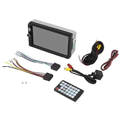 Kongqiabona 7 Pouces Voiture MP5 Lecteur multimédia 2 Din Radio à écran Tactile Bluetooth FM USB Support Vue arrière caméra kit de Voiture de contrôle (Noir sans caméra contrôleur)