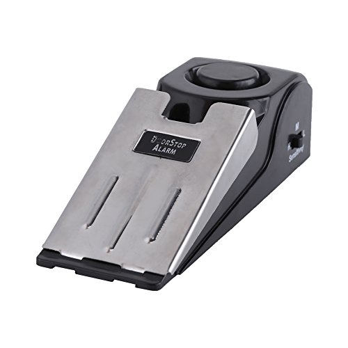 Qiilu Alarme de butée de porte, Qiilu Portable Security Home Wedge en forme de butée d'arrêt de porte Blocage de blocage d'arrêt 100 dB