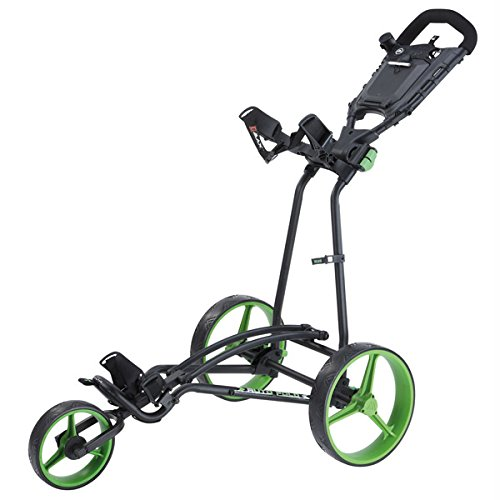 2015 BigMax TI 1000 Autofold+ 3-Wheel Pull/Push Golf Trolley/Cart Black/Lime