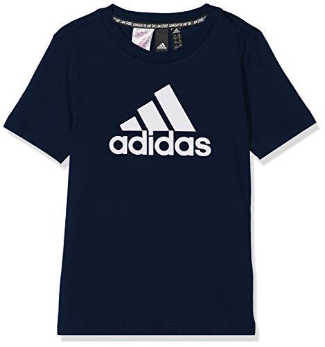 Adidas bos t-shirt bambino, collegiate navy/white, 15-16a
