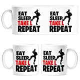 Diver Tazas Taza Eat Sleep Take L Repeat - Cerámica