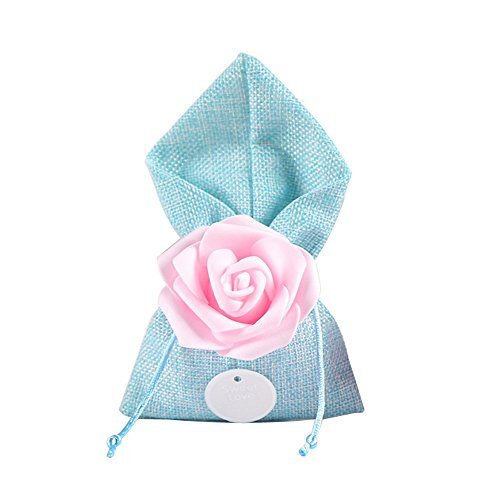 moleya 20Stück Hochzeit Party für Candy Taschen und Baby Dusche für Geschenke Staubbeutel, blau, 3.54*6.88 inch