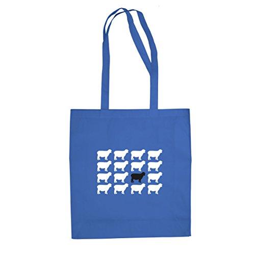 Schwarzes Schaf - Stofftasche / Beutel Blau