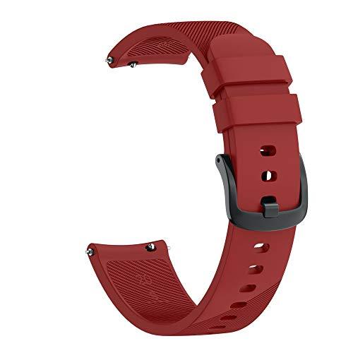 Kompatibel Samsung Galaxy Watch 42mm Armband, LederArmband klassischer Ersatzlederarmband Uhrenarmbänder Ersatzband Metallschnalle Fitnessband Schnellspanner Sportarmband (Wein)