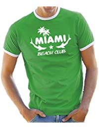 Touchlines Herren T-Shirt Miami Beach Club