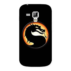 Special Mortal Black Back Case Cover for Galaxy S Duos